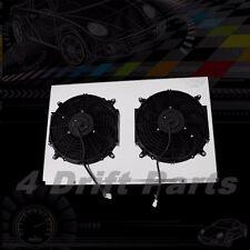 "KKS ALUMINUM RADIATOR SHROUD FIT CHEVY PICKUPs w/2x12"" HIGH SPEED FAN 67 72"