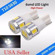2x 5730 6-SMD LED High Power T10 158 License Plate Interior Light Bulbs White