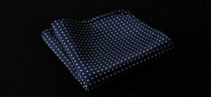 Silk Pocket Square Dot Woven Jacquard