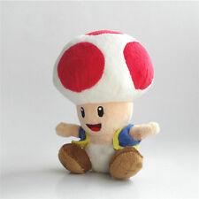 "Super Mario Bros. U Plush Red Toad Soft Toys Stuffed Animal Dolls Teddy 7"" GCT J"