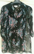 River Island Semi Fitted Floral Collared Women's Tops & Shirts