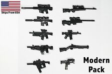 LEGO Guns Army SWAT Military Weapons 10 Pieces Sniper Rifle SMG Shotgun Pack