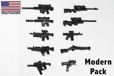 LEGO Guns Modern Army Military Weapons Pack 10 Pieces Sniper Rifle SMG Shotgun