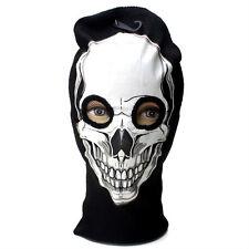 White Balaclava Skull Beanie Full Face Mask Winter Snow Ski 3 Hole Knit Hat #26
