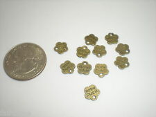 10 pc Antique Vtg Brass Hand Made/Handmade Metal Tags lot pendant/charm