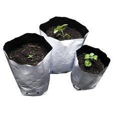 10 X Bolsa de Cultivo Blanca Maceta 12 Litros Plastic Bag Pot