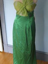 NIKA Size 10 GREEN GOWN longDress fun sexy strapless