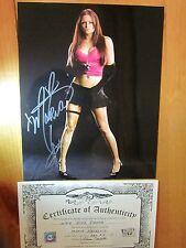 MARIA KANELLIS signed autograph 8x10 photo WWE DIVA playboy tna COA
