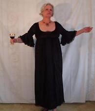 Black Velvet w/ Lace Gothic Dress - Witch, Widow - M/L!