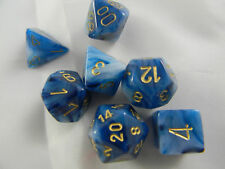 DUNGEONS & DRAGONS D&D Dice Set Phantom Teal w/ Gold #s Roleplaying Game Dice