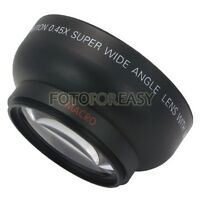 58mm 0.45x 58 Wide Angle & Macro Conversion Lens with 62mm Front Thread + Caps