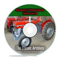 Massey Ferguson Shop Service Manuals, MF35 MF135, MF150, MF165, 34 total, CD F53