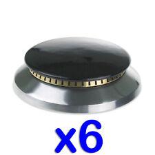 Completo Conjunto de 6 X Quemador Tapas & Latón Superior Anillos & Gas Soportes