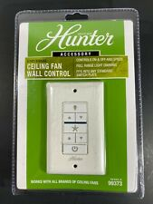 Hunter 99373 Indoor White Universal Wall Mount Ceiling Fan Control with Receiver