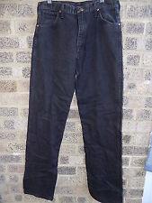 "Vintage Black Denim WRANGLER jeans 13 mwzwk 32 X 36"""