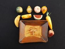 Vintage 10 Piece Alabaster Carved Stone Onyx Fruit & Tray Mango Pumpkin & More