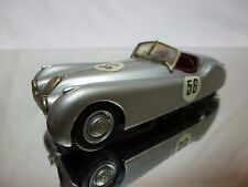 WESTERN MODELS (built) JAGUAR XK 120 - RALLY No 56 SILVER 1:43 - GOOD CONDITION