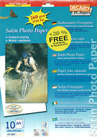 Decadry Oci 4887 Satin Papier Photo 12 A4 Feuilles Photographie Impression