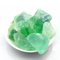 50g Natural Green Fluorite Quartz Crystal Bulk Rock Healing Minerals Craft Dcor