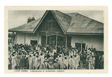 ADDIS ABEBA LIBERAZIONE DI PRIGIONIERI INDIGENI ETIOPIA AFRICA ORIENTALE COLONIE