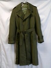 RARE 1950'S Vintage Korean War US Army GI Overcoat Coat W/ Wool Liner OG-107 SM