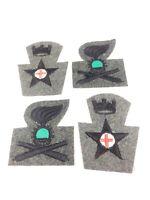 WWII WW2 Swedish Patches,Original,Uniform,Wool,Infantry,Soldier,Uniform,Shoulder