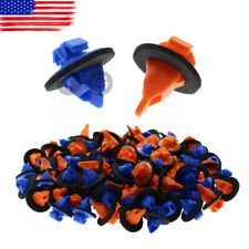 100pcs Orange&Blue Trim Moulding Clips For Toyota 4Runner Sequoia Tacoma