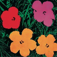 Flowers, 1964 (1 Red, 1 Pink, 2 Yellow) by Andy Warhol Art Print Poster 38x38