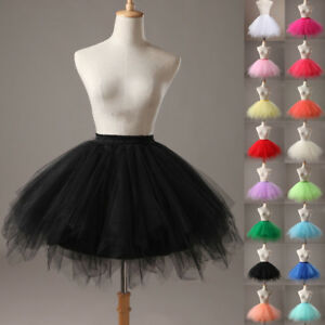 UK Women Adult Lady Tutu Tulle Skirt Fancy Skirt Dress Up Party Dancing Dress E1