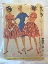 McCalls 6673 Vtg 1962 pattern Rockabilly dress or slim dress SZ 14 Bust 34