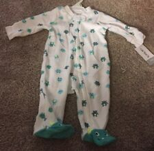 NWT CARTER'S BABY PAJAMAS ZIP MONSTER INC TERRY CLOTH 3 MONTHS