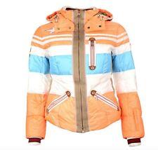 Bogner Dalila D Damen Ski Jacke Orange Blau Weiß Größe M 38 Neu mit Etikett