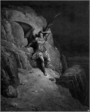 Paradise Lost John Milton Gustave Dore Satan Devil 6x5 pouces Imprimer