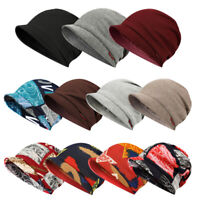 Unisex Beanie Hat Winter Warm Baggy Knitted Hat Ski Snowboard Outdoors Visor Hat
