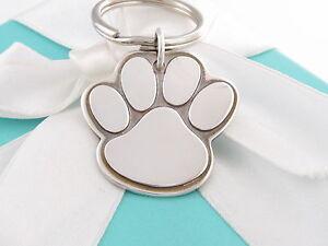 Rare Tiffany & Co Silver Dog Bear Paw Key Ring Chain Keychain Box Included