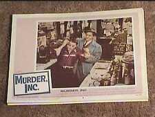 MURDER INC 1960 LOBBY CARD #8 MAFIA CRIME