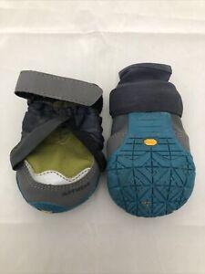 Ruffwear Polar Trex Winter Dog Boots 2.5 Green Gray Blue 2 Boots GUC