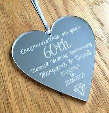 Personalised 60th Diamond Wedding Anniversary Mum Dad Grandparents Present Gifts