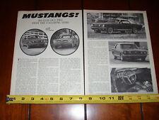 1966 FORD MUSTANG 289 V8 - 200 INLINE 6 - ORIGINAL VINTAGE ARTICLE