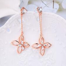 Gold Betsey Johnson beauty alloy flowers Dangle earrings women fashion Jewelry