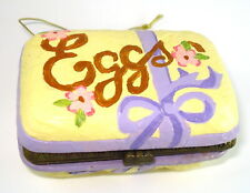Katherine's Collection  - Hinged Box Easter Eggs Carton with SIX bunny eggs