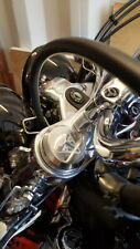 TRIUMPH ROCKET 3 - POLISHED EMBLEM  - BILLET FORK NUT COVERS