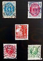 ANTIQUE RARE COLLECTIBLE SET OF DENMARK DANISH DANMARK POSTAGE STAMPS