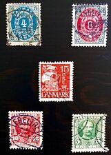 ANTIQUE RARE COLLECTIBLE SET OF DENMARK DANISH DANMARK POSTAGE STAMPS