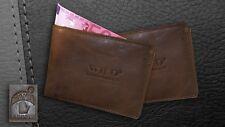 Herren WILD Geldbörse ECHT Leder Geldbeutel Portemonnaie Braun - 9101W