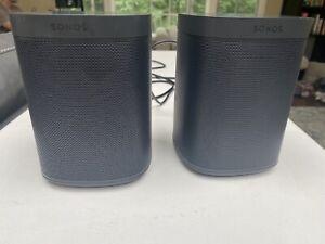 Sonos One SL Wireless Speaker, Black - 2 Pack