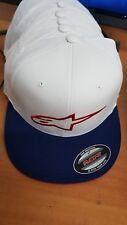ALPINESTARS Ageless Flat bill FLEXFIT HAT White/Blue Red Logo Small/Medium