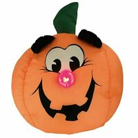 Trendmasters Motion Activated Pumpkin Halloween Plush Light Up Spooky Music EUC