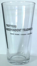 ONLY WRITING TROTTERS horses pint size BEER GLASS and fools