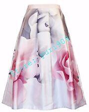 Ted Baker London Cream Jolana Porcelain Rose Midi Skirt Size 5 (US 12) $295